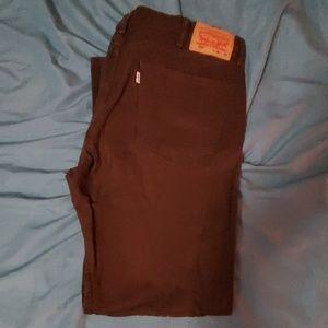 Levi's brown 502 pants 38×32